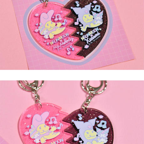 [Rainbow Melody] 1/2 Keyholder with Sticker