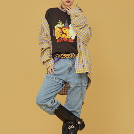 [ND.] 20FW Check Shirt (Yellow)