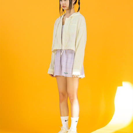 19SM Crop Hood Shirt (Beige Yellow)