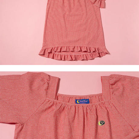 Frill Tulip Onepiece (Red)