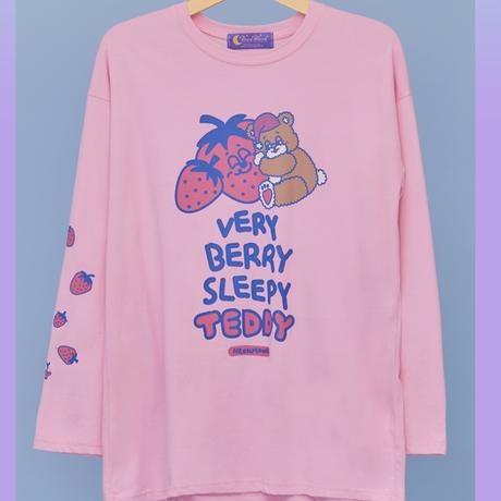 Sleepy Teddy Long T (Pink)