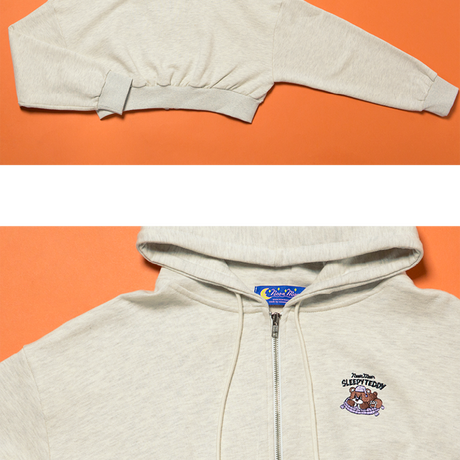 Crop Hood Zip (Oatmeal)