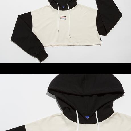 Crop Hood (Black+Ivory)
