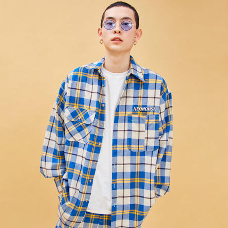 D19S Check Shirt (Blue+Yellow)