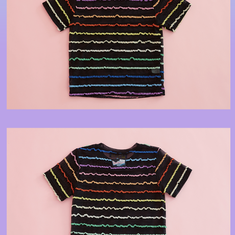 Rainbow T-shirt (Black)