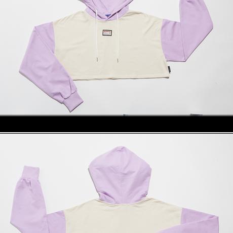 Crop Hood (Lavender+Ivory)