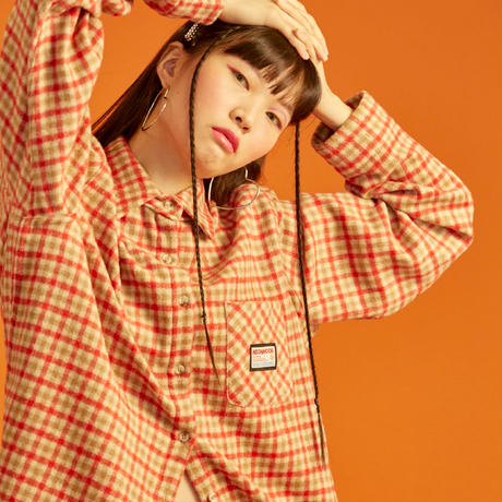18W Check Shirt (Teddy Beige)