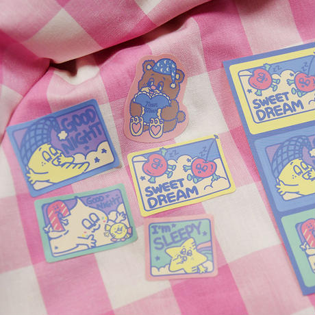 [Sleepy World] 5Pieces Sticker