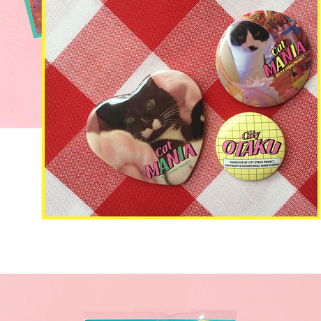 [CITY OTAKU Project] Cat Mania 3Pin Buttons