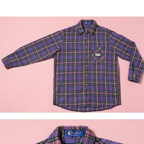 18W Check Shirt (Purple)