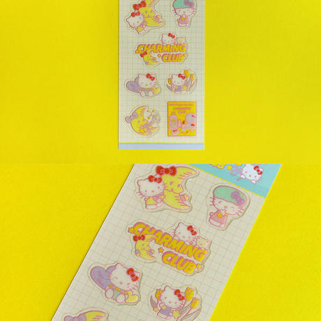 HELLO KITTY CHARMING CLUB 3 Stickers - Glitter
