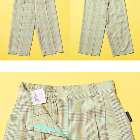 19S Check Pants (Green)