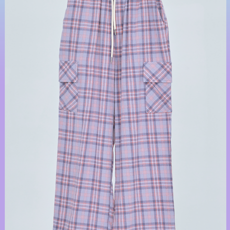 [ND.] 20FW Check Pants (Purple)