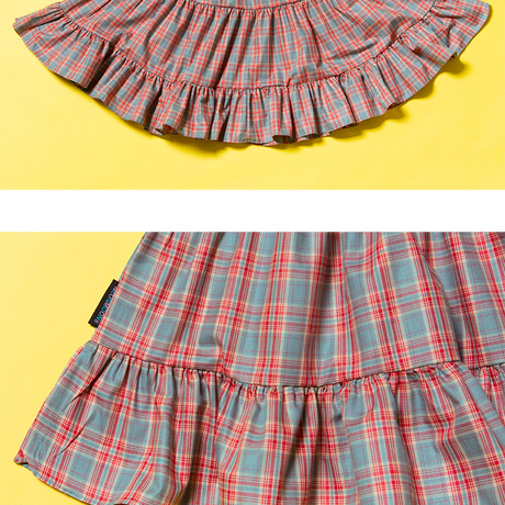 19S Cancan Skirt_Check Red