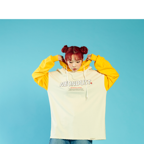 [ND] 2Color Hood (Yellow+Ivory)