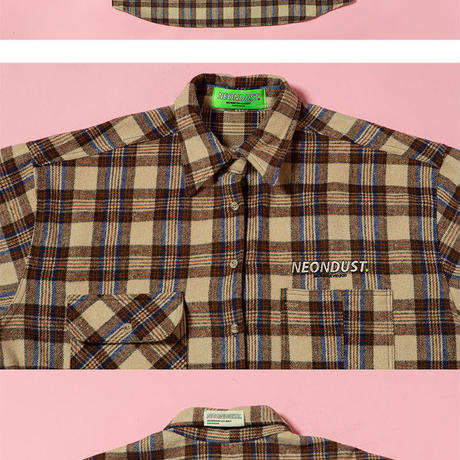 [ND] 18W Check Shirt (Brown)