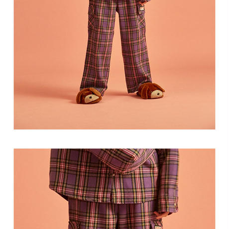 18W Check Pants (Purple)