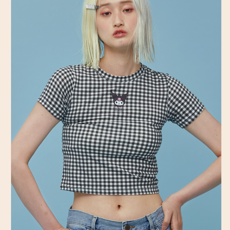 Check T-shirt (Kuromi)