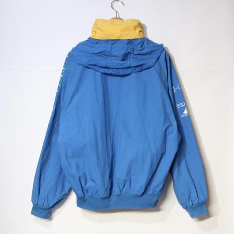 【古着】NAUTICA NYLON SAILING JACKET Blue/Yellow Size L