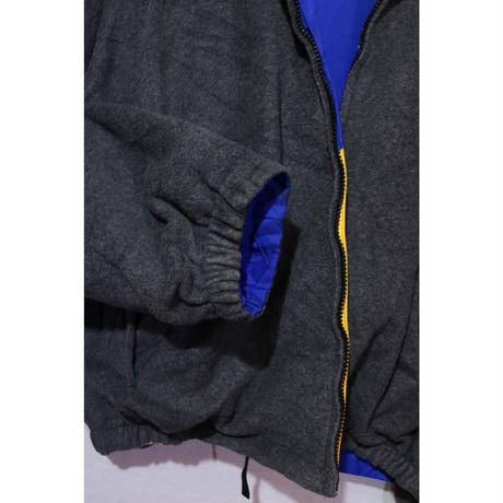 【古着】NAUTICA DOWN FLEECE REVERSIBLE JACKET Blue/Yellow/Grey Size XL