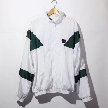 【古着】FILA NYLON JACKET White/ Green Size L