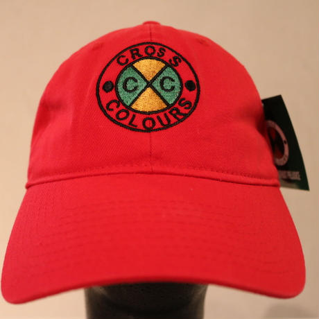 CROSS COLOURS CLASSIC EMBROIDERED DAD HAT RED