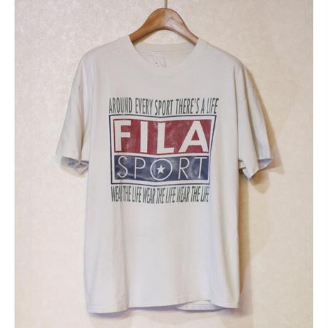 【古着】FILA SPORT WEAR THE LIFE T SHIRT OFF-WHITE COLOR Size N/A