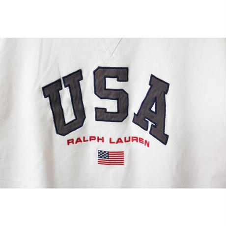 【古着】POLO RALPH LAWREN SWEAT TOP White Size M