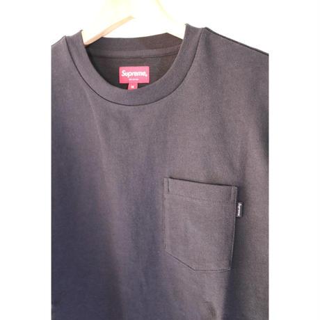 Supreme FW18KN50 M Main L/S Pocket Tee Black M size