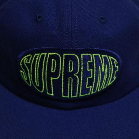 Supreme 2017S/S WARP 6-PANEL CAP ROYAL BLUE