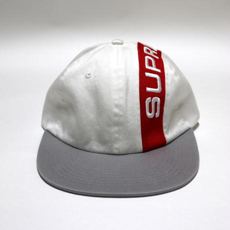 Supreme 2018FW Stripe 6 Panel Cap White