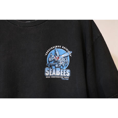 【古着】7.62 DESIGN MILITARY APPAREL SEABEES S/S TEE Black Size L