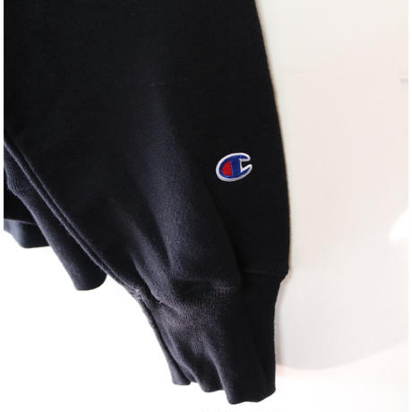 Champion Chenille Logo Reverse Weave  Sweatshirt BLACK Size XL