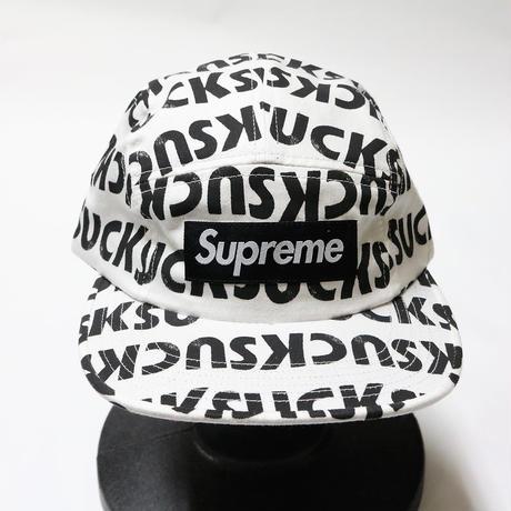 supreme 2017SS SUCK CAMP CAP WHITE