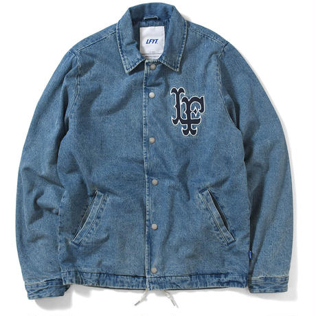 LFYT LF LOGO WASHED DENIM COACH コーチジャケット JACKET BLUE ブルー