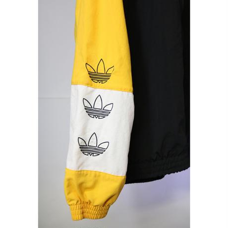 【古着】ADIDAS NYLON JACKET Yellow / Black Size M