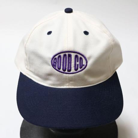THE GOOD COMPANY  CAP WHITE×NAVY