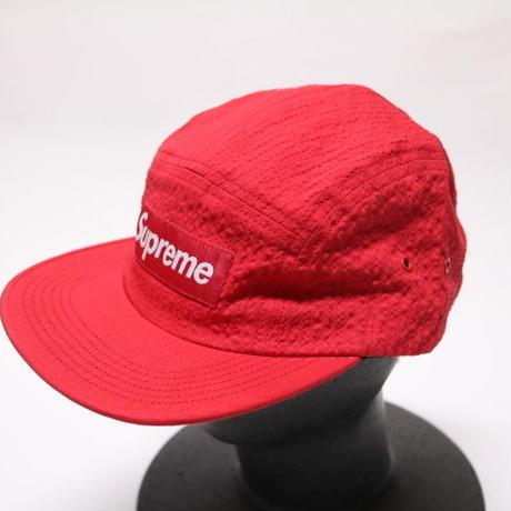 supreme TONAL SEERSUCKER CAMP CAP RED