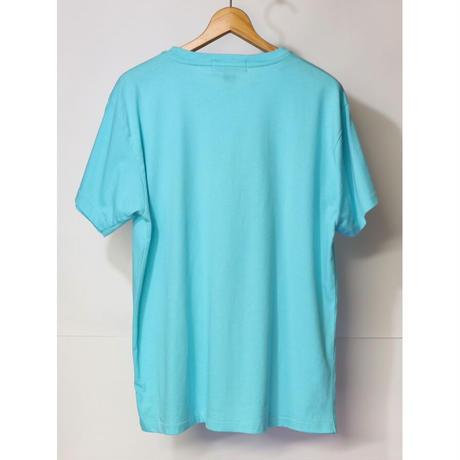 【古着】RALPH LAUREN POCKET S/S Tee Aqua Blue Size L