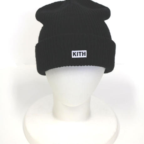 KITH Box Logo Knit Beanie Black
