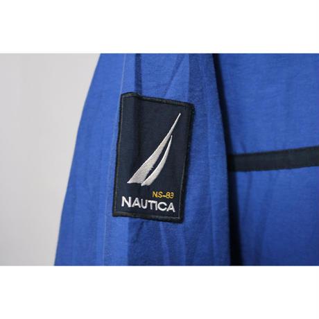 【古着】NAUTICA NYLON  JACKET Blue Size M