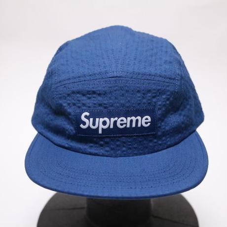 supreme TONAL SEERSUCKER CAMP CAP BLUE