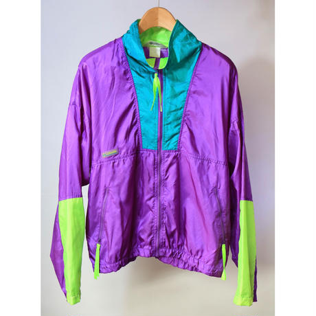 【古着】COLUMBIA NYLON JACKET Purple Size L