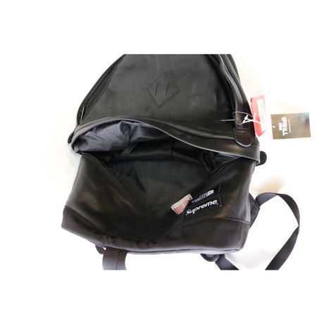 SUPREME x THE NORTH FACE LEATHER BACKPACK BLACK