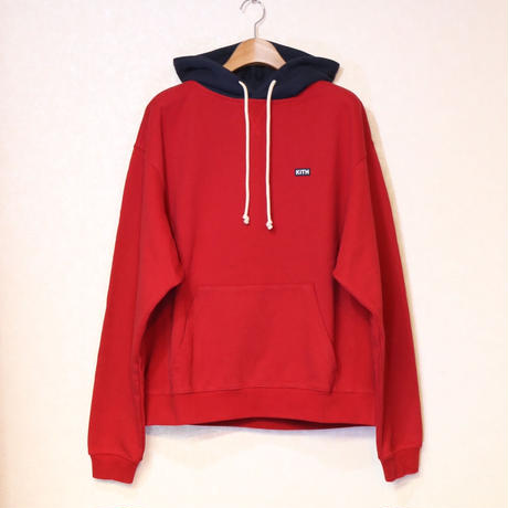 KITH WILLIAMS III CONTRAST HOODIE CHILI PEPPER Size L