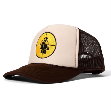 LFYT X PUBLIC ENEMY TARGET TRUCKER CAP Brown
