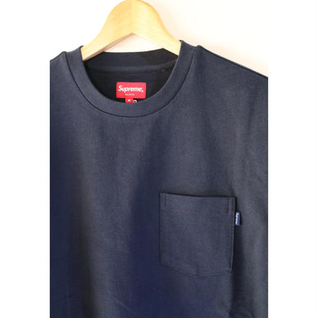 Supreme FW18KN50 M Main L/S Pocket Tee Lime NAVY M size