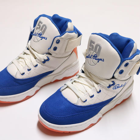 "EWING ATHLETICS 33 HI CREAM/ROYAL/ORANGE ""50 GREATEST PLAYERS"""