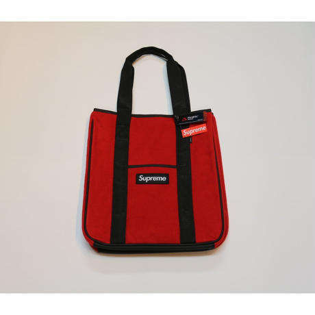 Supreme 2018 FW 18 AW Polartec tote bag Red シュプリーム ポーラテック トート バッグ ボックスロゴ