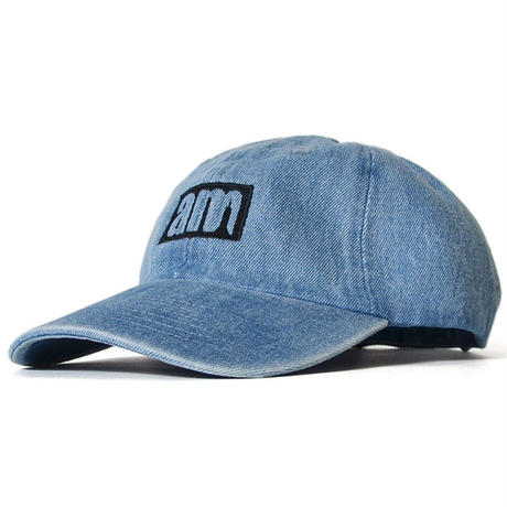 am (after midnight nyc) LOGO DAD HAT DENIM <FREE>